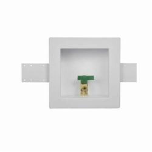 Oatey® 39158 Square Ice Maker Outlet Box Without Hammer, For Use With 1/4 Turn F1807 Low Lead Ball Valve, Polystyrene