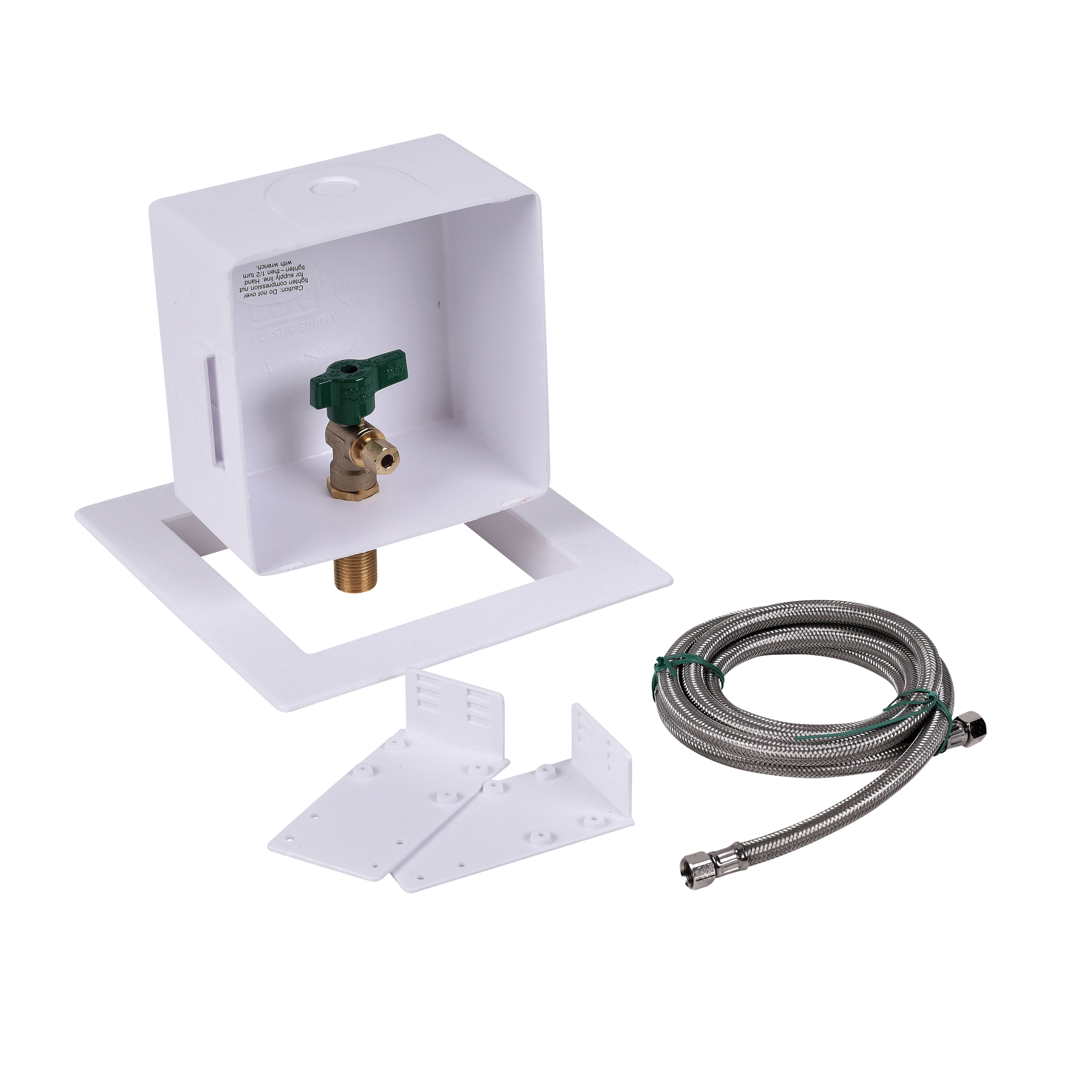 Oatey® 39145 Square Ice Maker Outlet Box Without Water Hammer Arrestor, C, Domestic