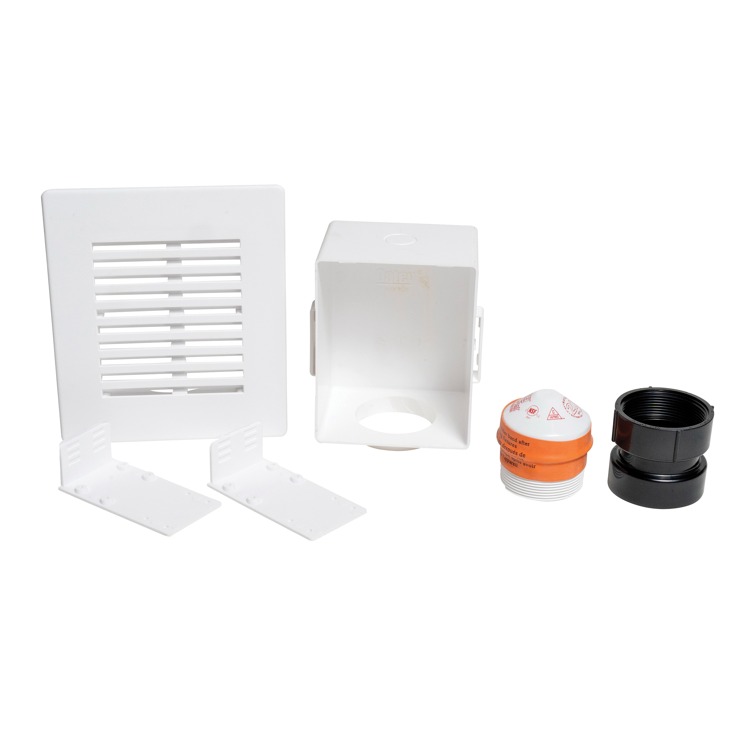 Oatey® Sure-Vent® 39263 Wall Box Kit With ABS Adapter and 20 DFU AAV, Polystyrene, Domestic