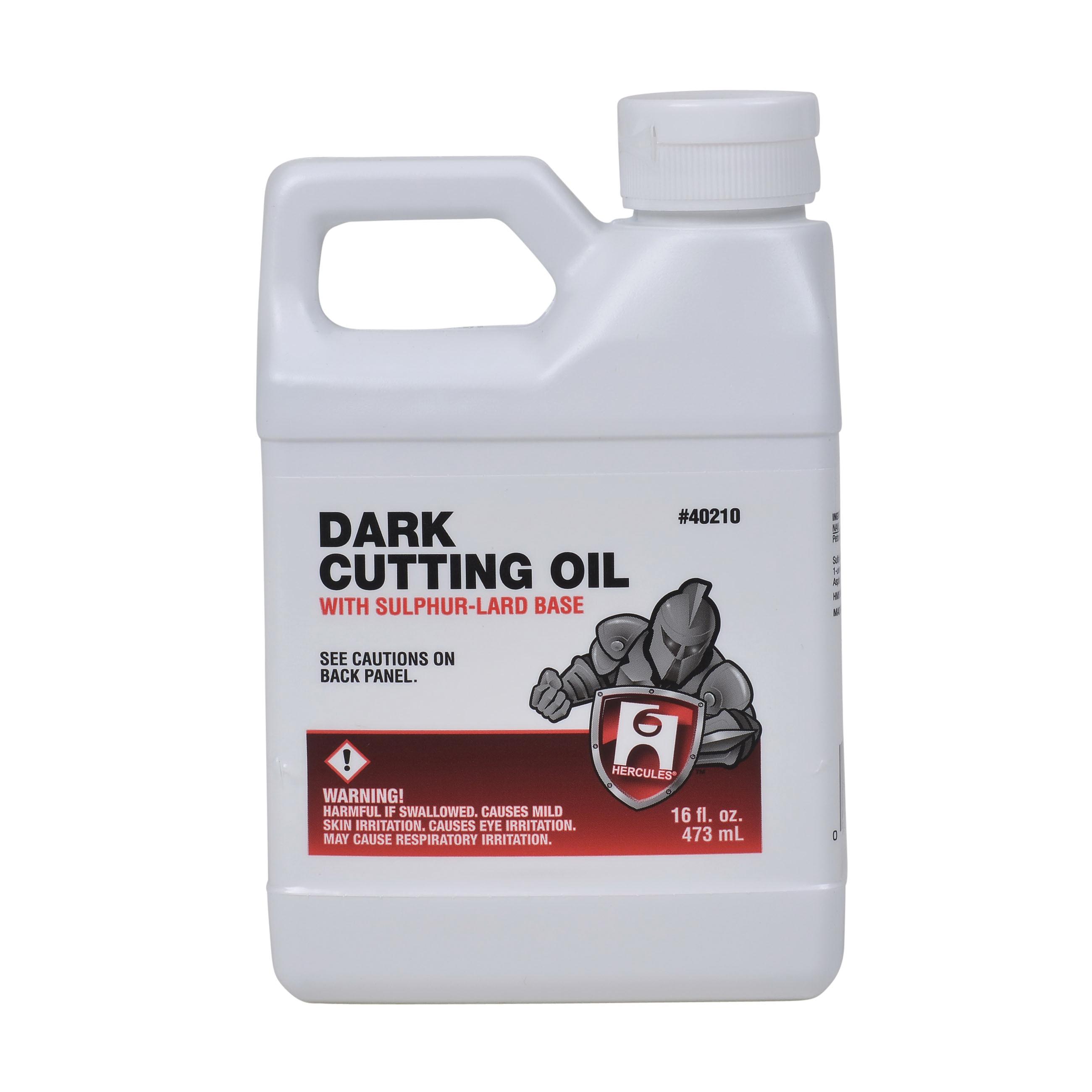 Hercules® 40210 Cutting Oil, 1 pt, Amber Liquid, Dark Brownish, Petroleum
