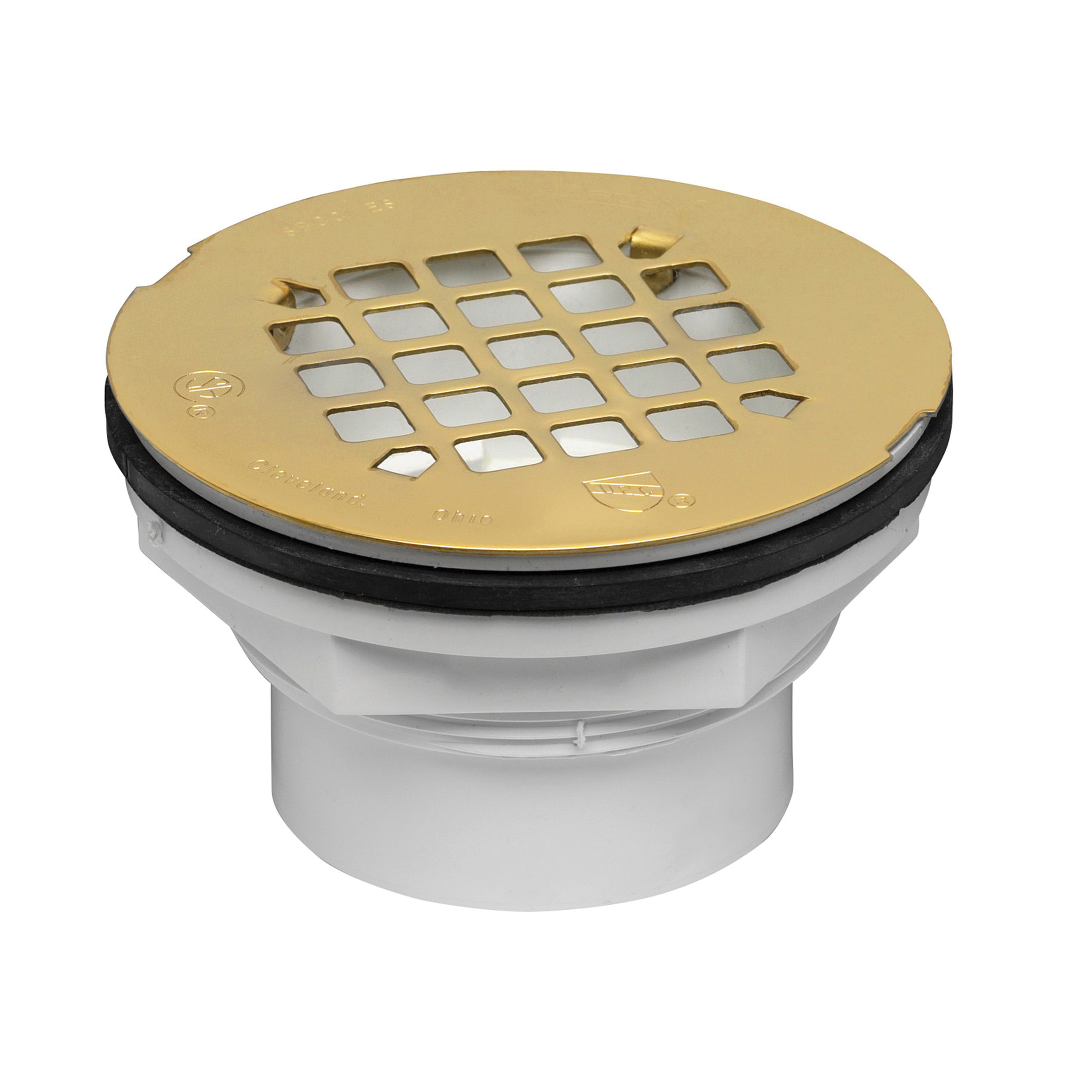 Oatey® 42097 101PS Shower Drain With Strainer, 2 in Nominal, Solvent Weld Connection, PVC Drain, Domestic