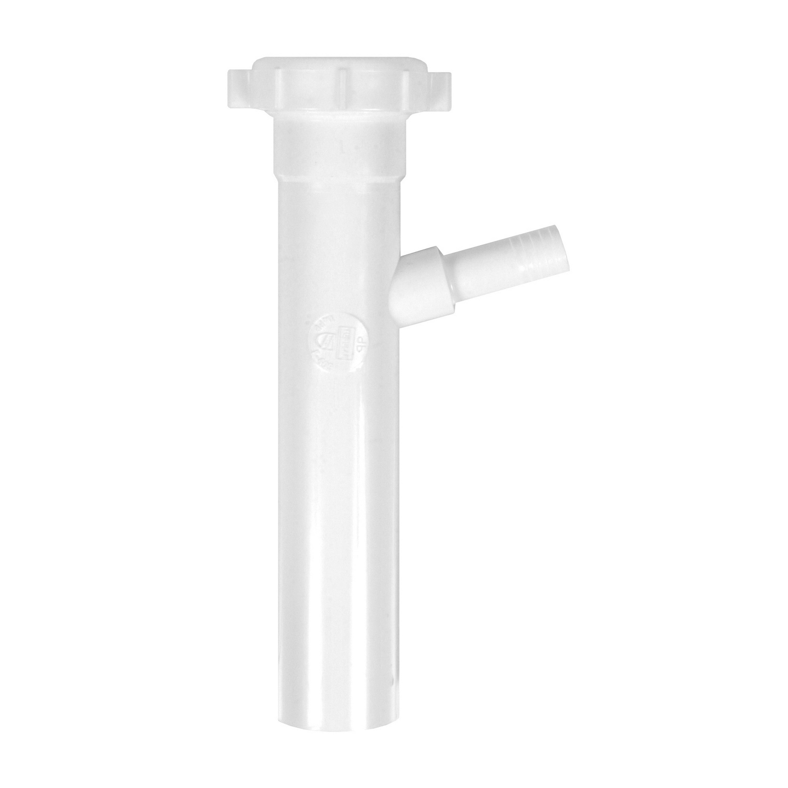 Dearborn® PP9816 Tubular Branch Tailpiece, 1-1/2 in Pipe, 8 in L, Slip Joint Connection, Polypropylene Plastic, Import