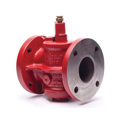 Homestead® 0612001024 612 Lubricated Plug Valve, 2-1/2 in Nominal, Flanged End Style, 200 lb WOG/150 lb SWP, Cast Iron Body