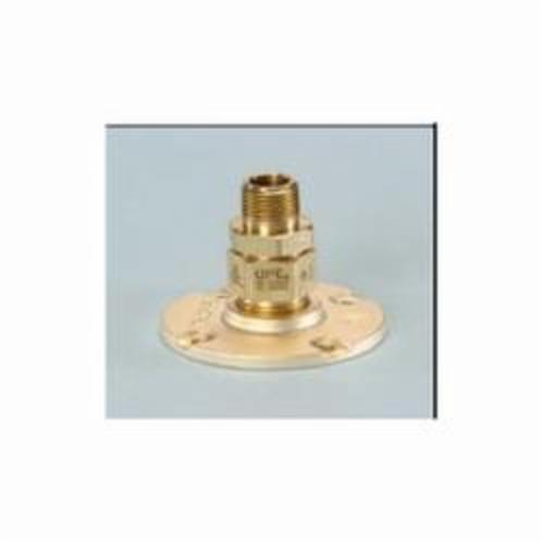 TracPipe® Counterstrike® AutoFlare® FGP-BFF-500 Flange Fitting, 1/2 in Nominal, MNPT x TracPipe® PS-II/CounterStrike® End Style, Yellow Brass, Domestic