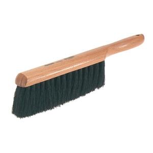 Osborn 0005400300 Counter Duster, 9 in L Brush, 2-1/4 in L Horsehair Trim, Fine Bristle Firmness