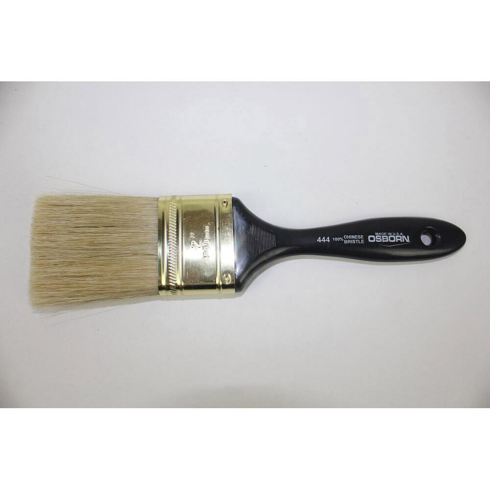 Osborn 0007006700 Varnish Brush, 1/2 in W China Bristle Brush, Plastic Handle, Enamels, Epoxy Coating, Oil Paints, Shellacs, Stains