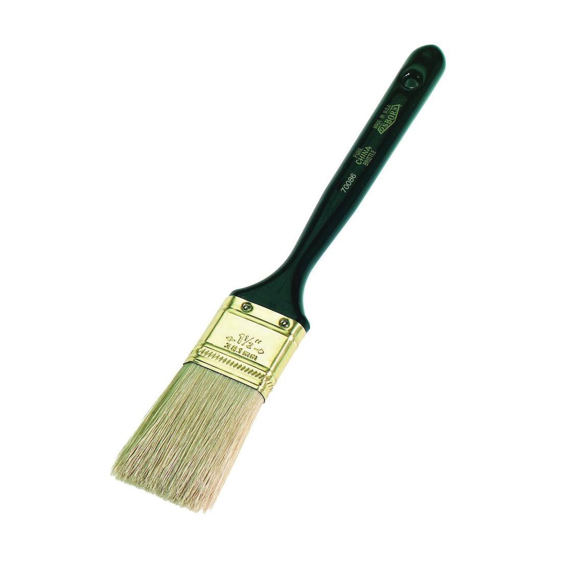 Osborn 0007007000 Varnish Brush, 2 in W China Bristle Brush, Plastic Handle, Enamels, Epoxy Coating, Oil Paints, Shellacs, Stains