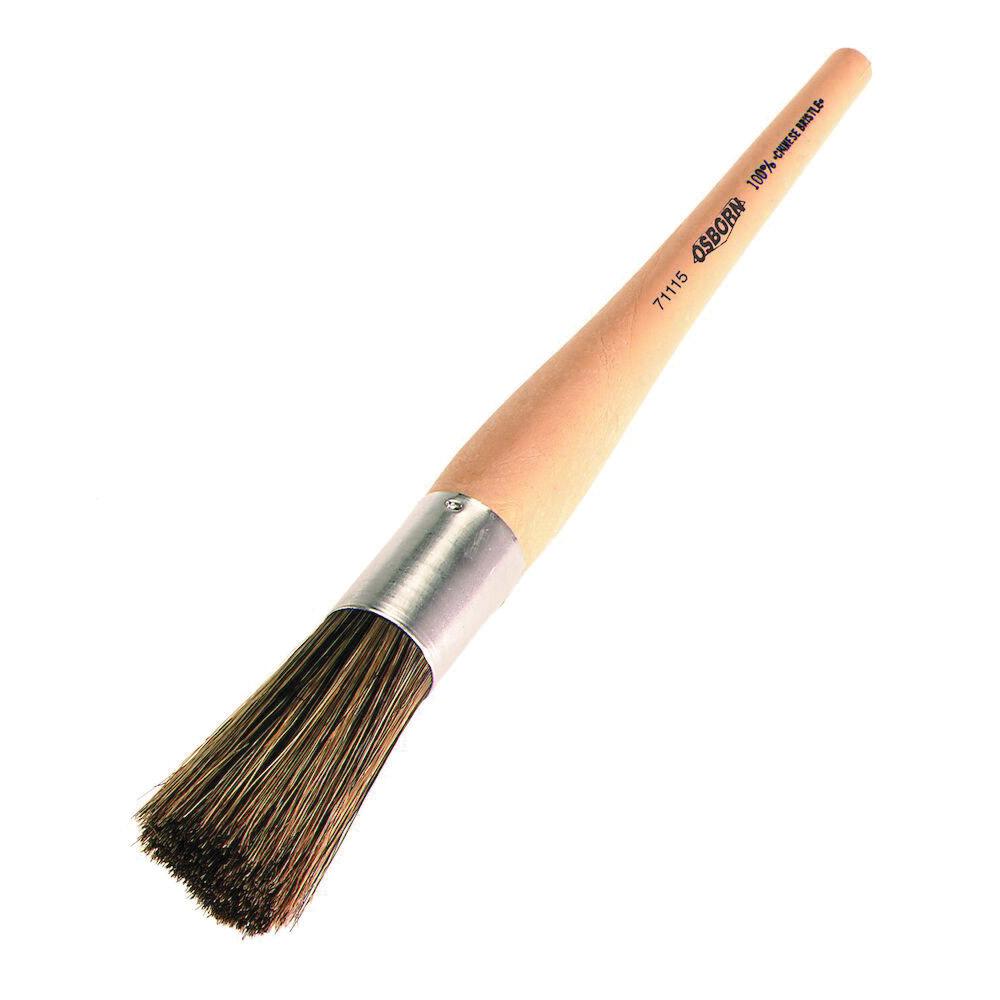 Osborn 0007110500 Varnish Brush, 4 in W Mixed Polyester/Bristle Brush, Plastic Handle, Oil Based Paints