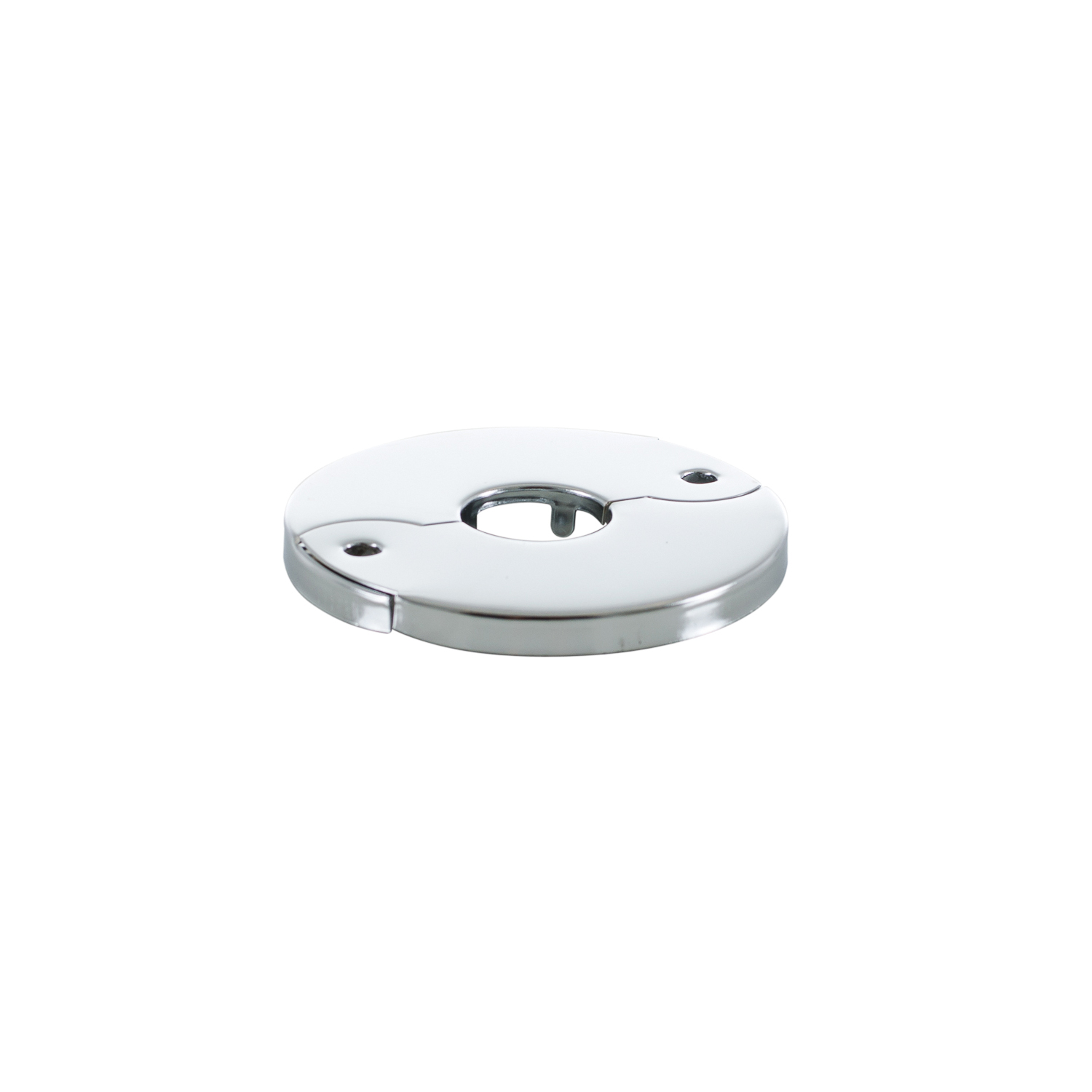 PASCO Sure Grip 2811 Economy Floor and Ceiling Plate Without Springs, 1/2 in IPS Thread, Steel, Polished Chrome