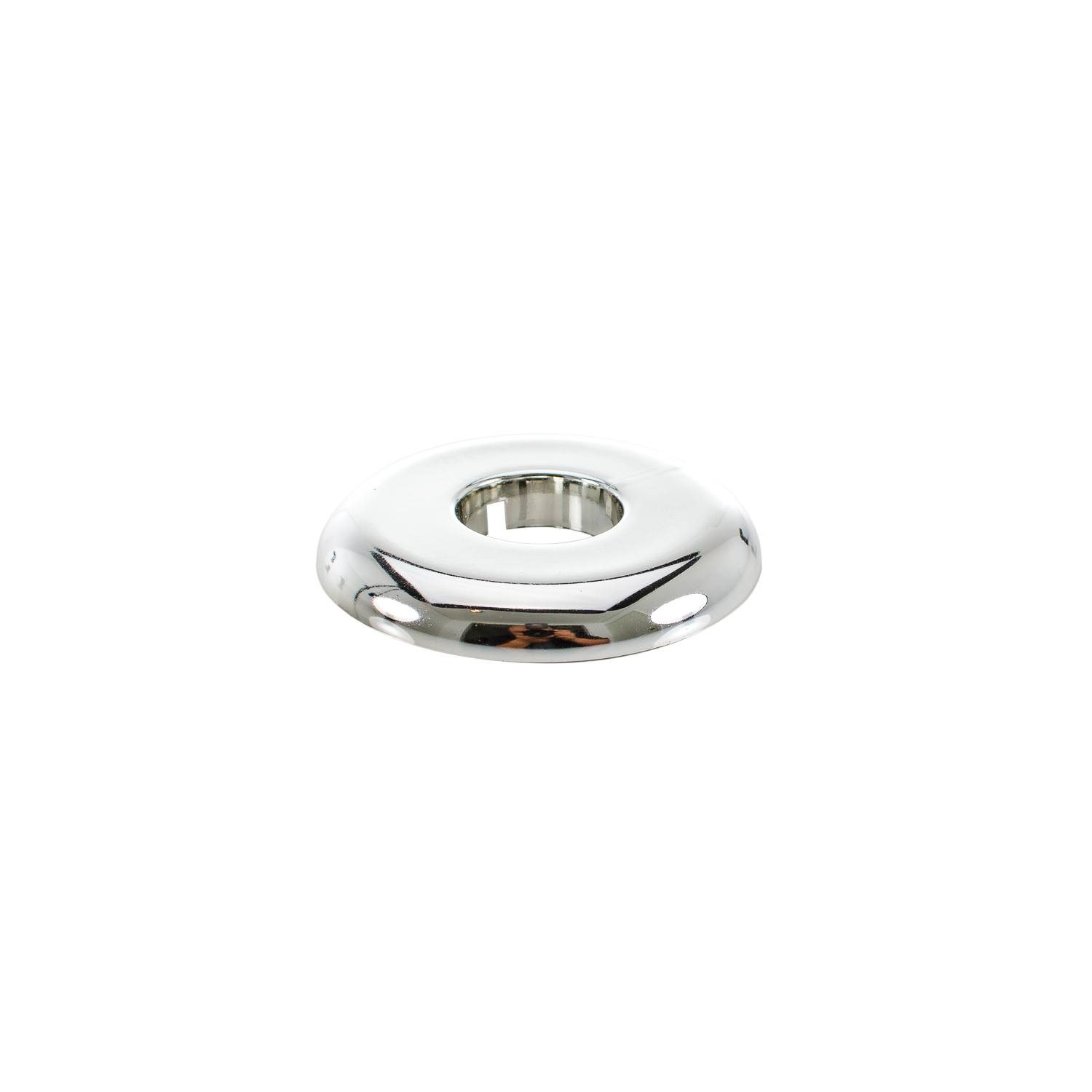 PASCO 2857 Split-One Floor and Ceiling Plate, 3/4 in IPS Thread, Plastic, Polished Chrome