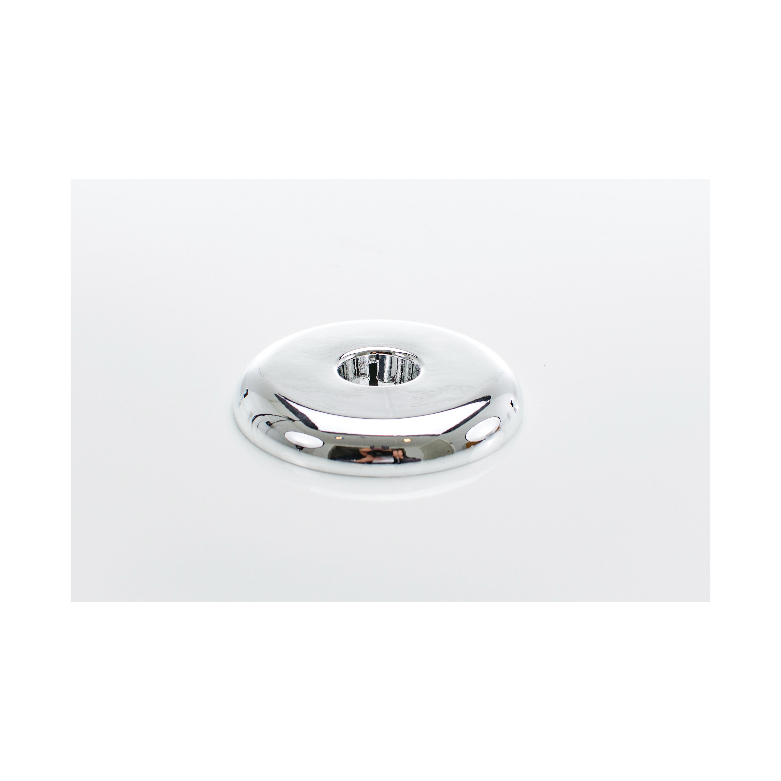 PASCO 2873 Split-One Floor and Ceiling Plate, 1/2 in CWT Thread, Plastic, Polished Chrome
