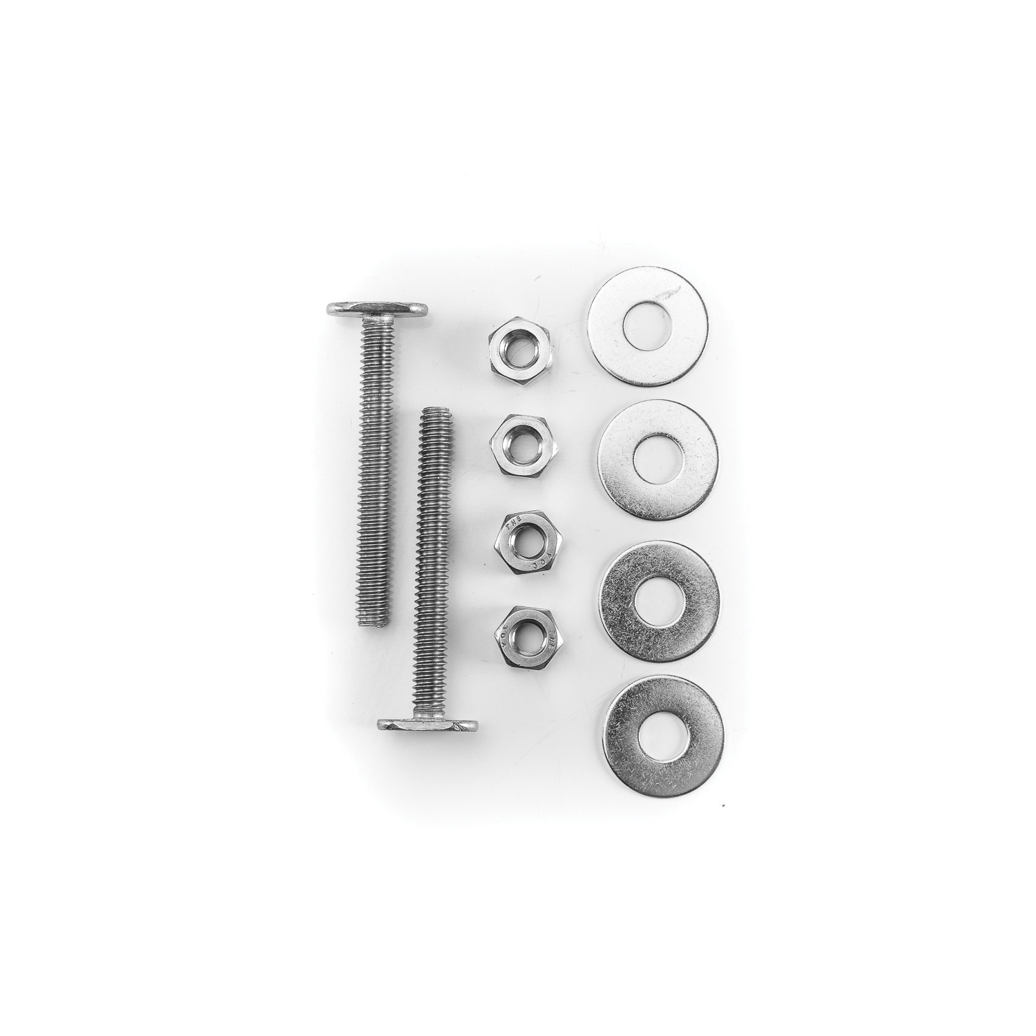 PASCO 28-SS Closet Bolt Set, 1/4 in x 2-1/4 in L Thread, 305 Stainless Steel