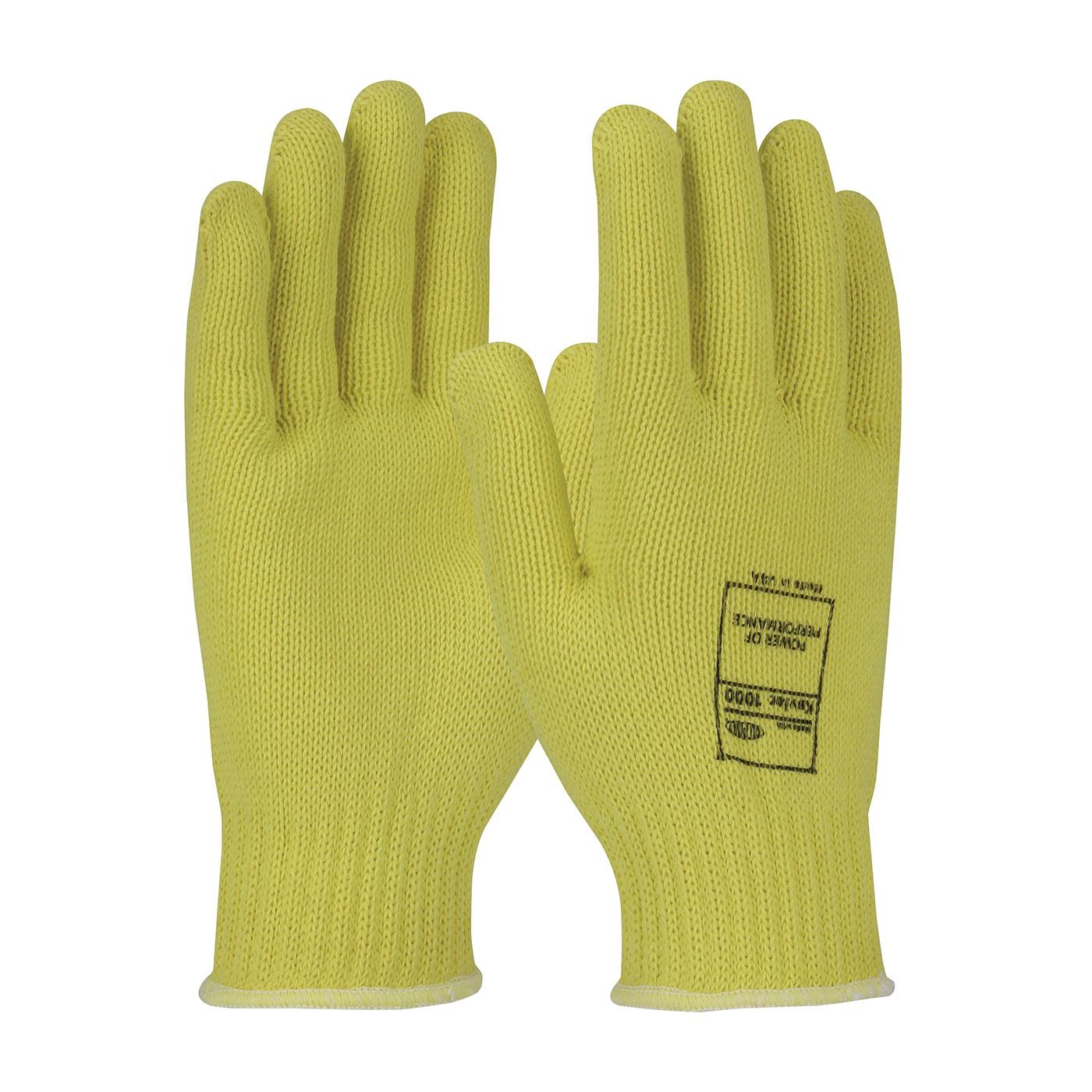 PIP® Kut-Gard® 07-K200/L Lightweight Unisex Cut Resistant Gloves, L, Uncoated Coating, DuPont™ Kevlar® Fiber, Elastic/Knit Wrist Cuff, Resists: Cut, Heat and Flame, ANSI Cut-Resistance Level: A2