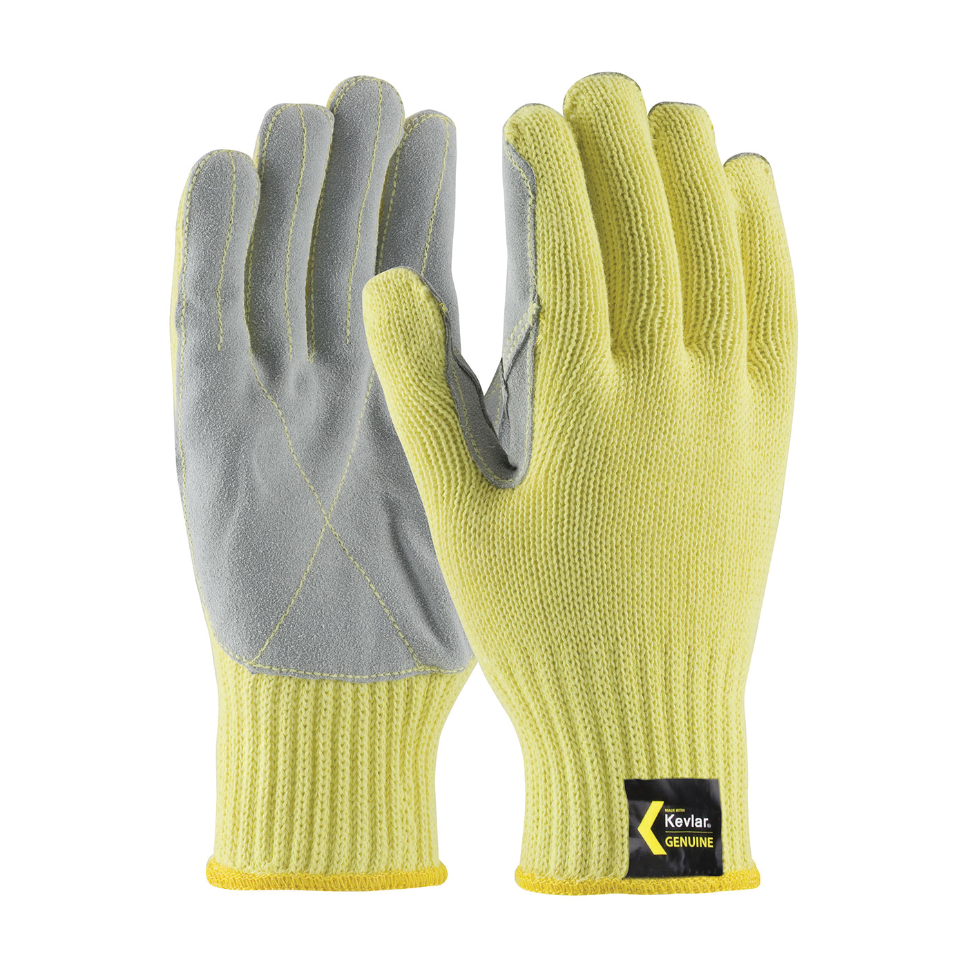 G-Tek® GP™ 34-C229/L General Purpose Gloves, Coated, L, Nitrile Palm, Nylon, Blue/White, Continuous Knit Wrist Cuff, Nitrile Coating, Resists: Abrasion, Cut and Puncture, Nylon Lining, Seamless Knit