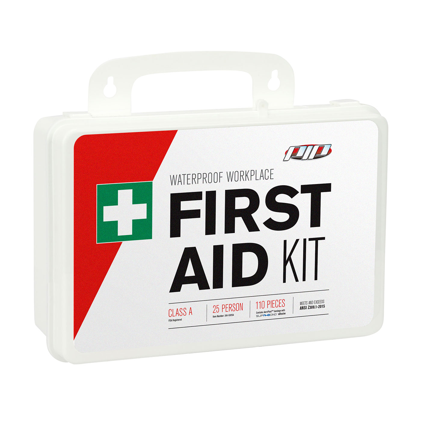 PIP® 299-13290 Contractor First Aid Kit, Wall Mount, 131 Components, Plastic Case