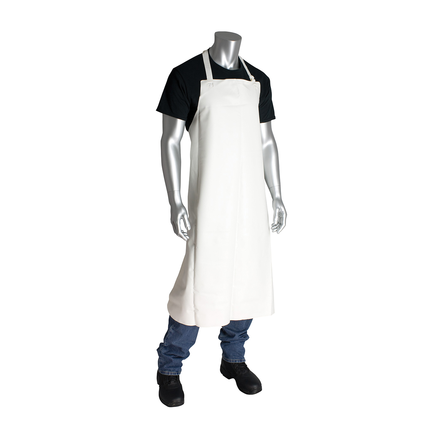 PIP® 200-08001 Vinyl Pot Sink Bib Apron, Polyethylene, 35 in L x 33 in W, Resists: Abrasion, Puncture, Chemical, Fats, Oil and Grease