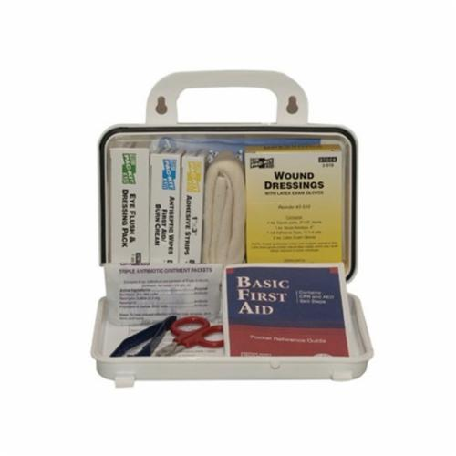 Pac-Kit® 5201 Unitized First Aid Kit, Wall Mount, 86 Components, Weatherproof Steel Case, 6-1/2 in H x 9-1/2 in W x 2-3/4 in D