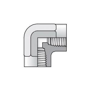 Parker® 1/4 X 1/8 PTR-S PTR Straight Tube to Pipe Reducer, 1/4-18 x 1/8-27 Nominal, Male NPTF x Female NPTF, Steel
