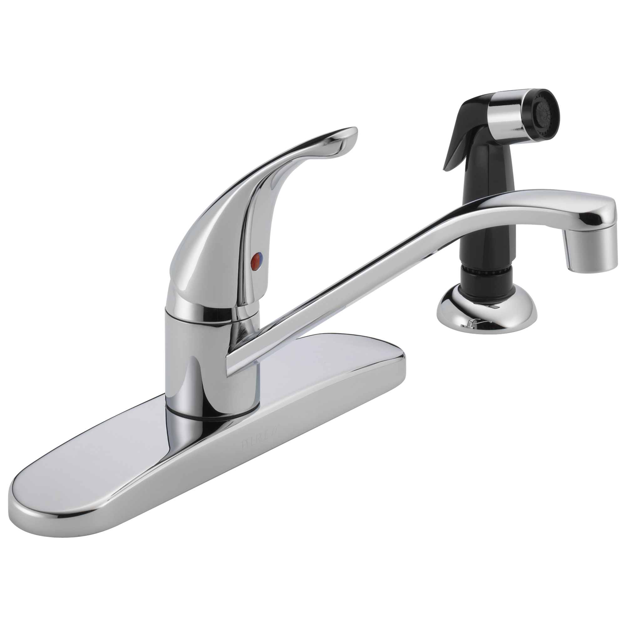 Peerless® P115LF Kitchen Faucet, 1.8 gpm Flow Rate, 8 in Center, Swivel Spout, Polished Chrome, 1 Handles, Import