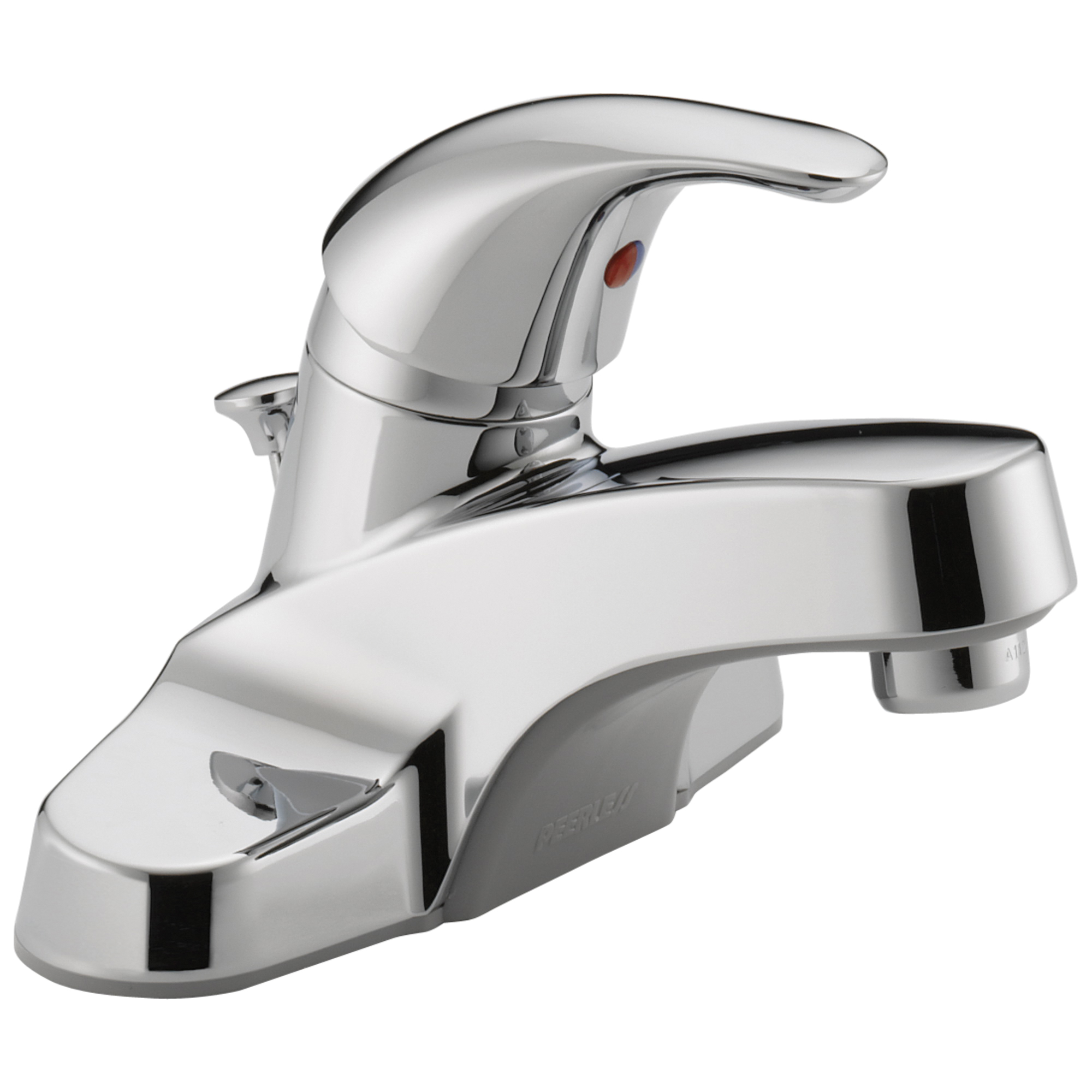 Peerless® P136LF-M Centerset Lavatory Faucet, Polished Chrome, 1 Handles, Metal Pop-Up Drain, 1.2 gpm Flow Rate