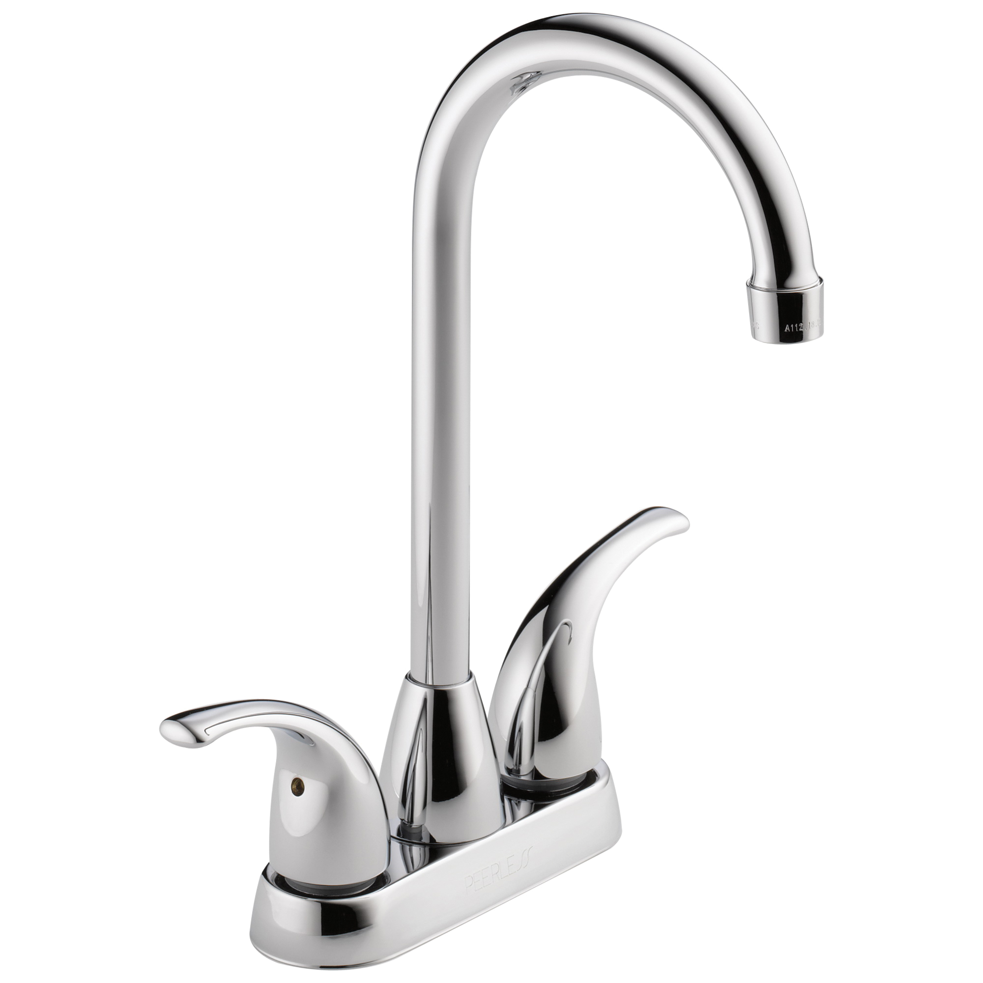 Peerless® P288LF Bar/Prep Faucet, Polished Chrome, 2 Handle, 1.8 gpm