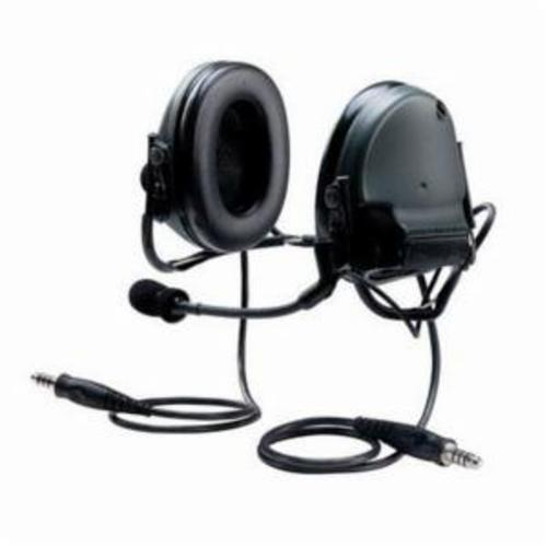 Peltor™ SWAT-TAC™ III 093045-93352 MT Series Dual Communication 2-Way Radio Headset With Dynamic Boom Microphone, 23 dB Noise Reduction, For Use With ACH and MICH Helmet, Foldable Headband/Helmet Mount, Black