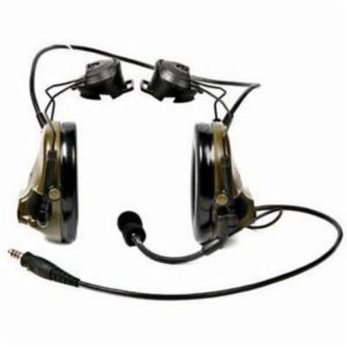 Peltor™ 078371-61170 MT Series 2-Way Radio Headset With Dynamic Boom Microphone, 21 dB Noise Reduction, For Use With Motorola™ HT750/HT1250 2-Way Radio, Hard Hat Mount, Black