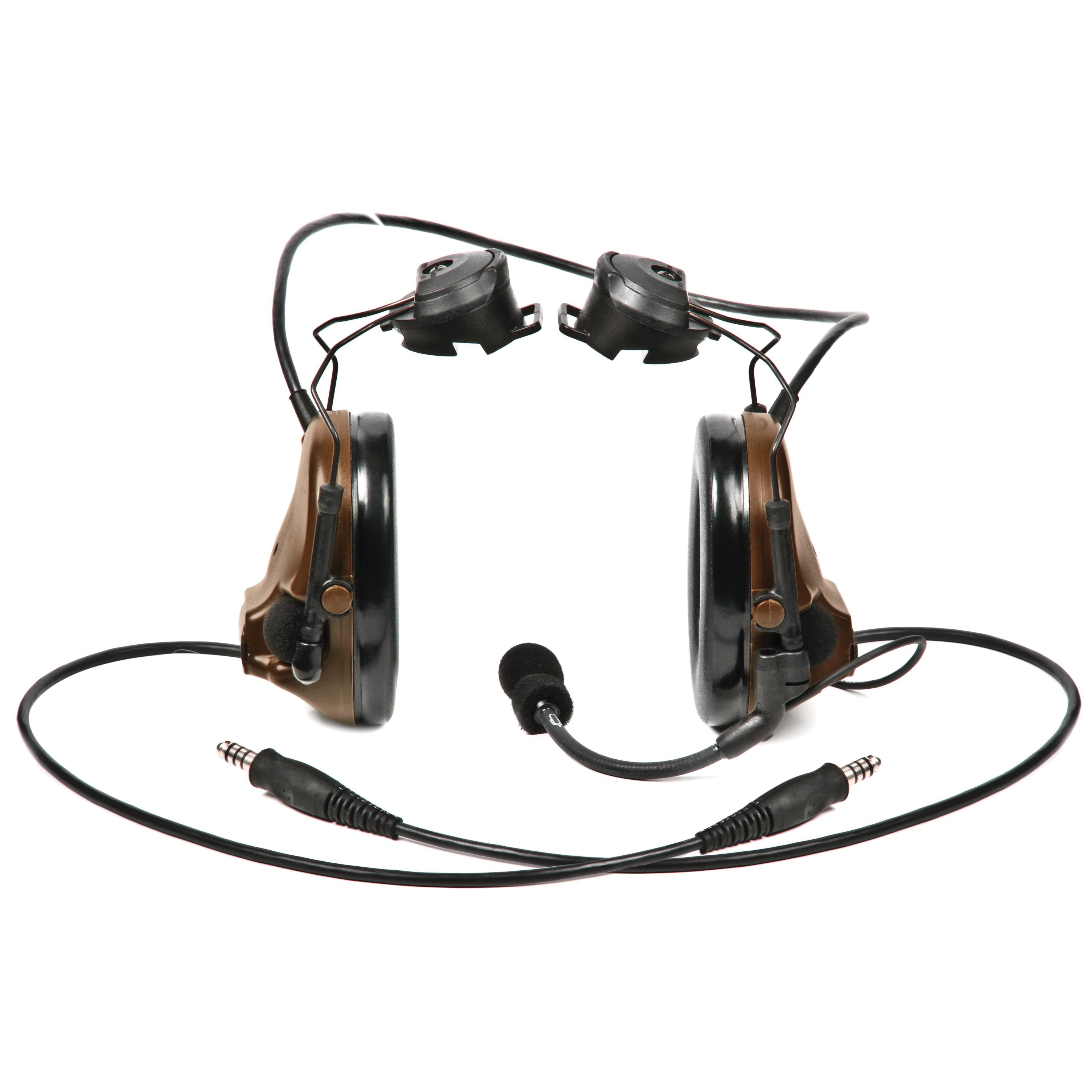 Peltor™ ComTac™ III 093045-93483 MT Series 2-Way Radio Headset With Dynamic Boom Microphone, 22 dB Noise Reduction, For Use With ACH and MICH Helmets, Helmet Mount, Coyote Brown