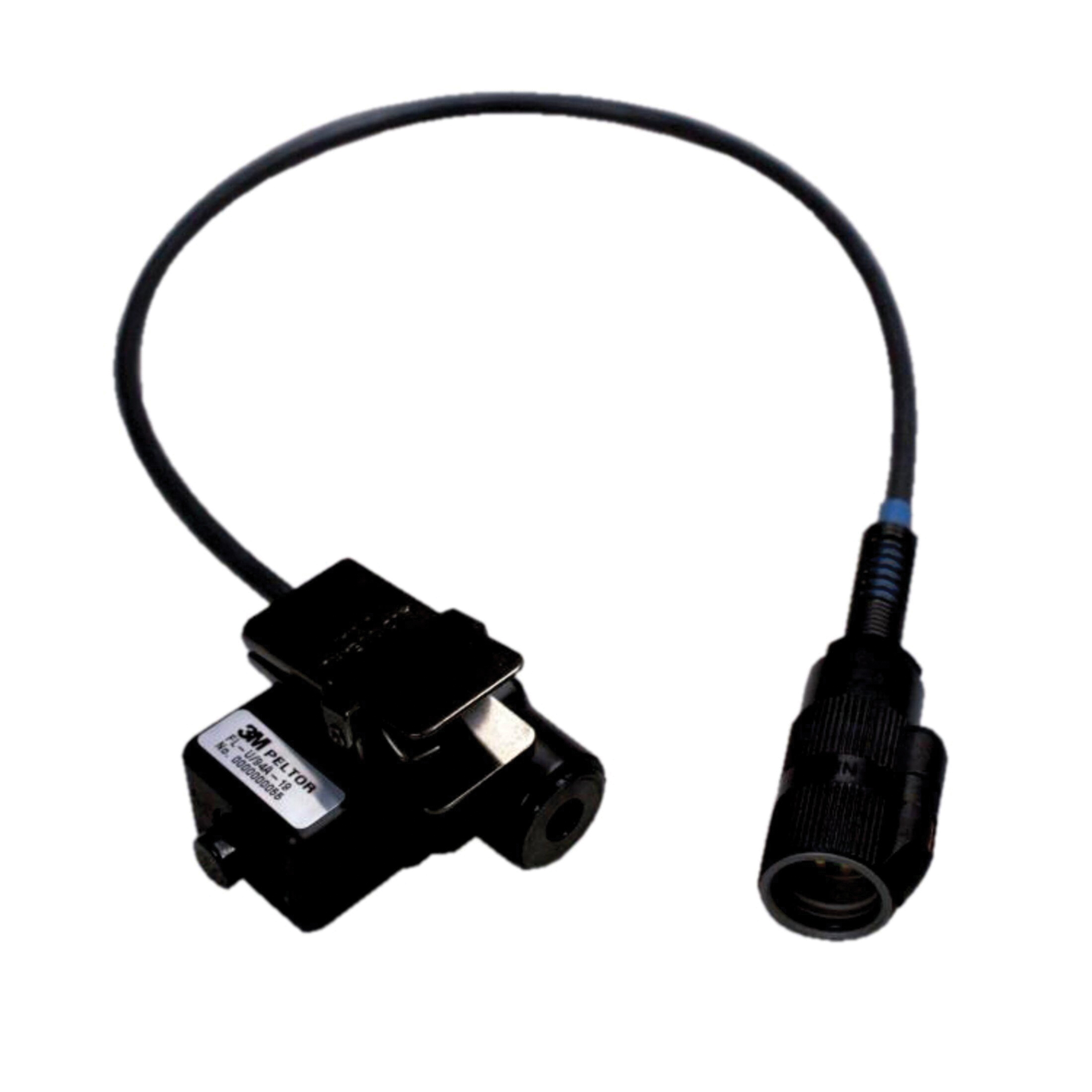 Peltor™ 093045-93368 In-Line Portable Push-To-Talk Adaptor, For Use With Kenwood TK220/320, 240/340, 240D/340D, 208/308, 430/431, 250/350/353, 260/270, TK-3160, TK360/370, 248/348, Free Talk, Free Talk XL and Pro Talk Radios