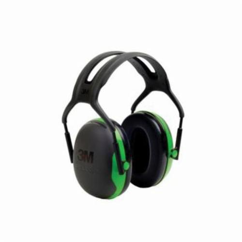Peltor™ 093045-98172 Optime™ 105 Hi-Visibility Earmuffs, 30 dB Noise Reduction, Black/Green, Over The Head Band Position, ANSI S3.19-1974, CSA Certified