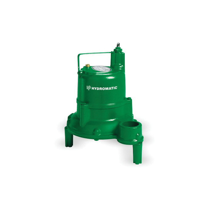 HYDROMATIC® SHEF40M1 20 High-Head Manual Submersible Effluent Pump, 1-1/2 in NPT Outlet, 1 ph, 4/10 hp, Cast Iron