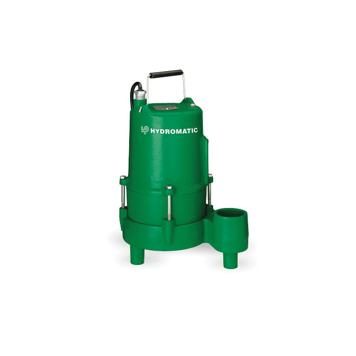 HYDROMATIC® SHEF45M1 High-Head Manual Submersible Effluent Pump, 87 gpm Flow Rate, 2 in NPT Outlet, 1 ph, 1/2 hp, Cast Iron