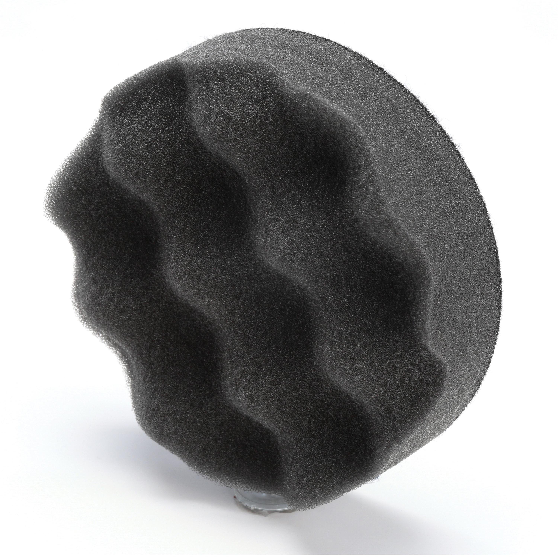 Standard Abrasives™ 051115-33011 725012 Eyelet High Strength Cross Buff, 1-1/2 in Dia Buff, Medium Grade, 2 Ply, 1/2 in W Face