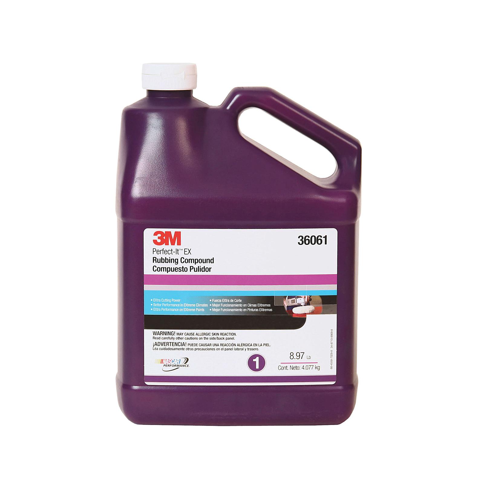 Perfect-It™ 051131-36060 EX Series Rubbing Compound, 1 qt Bottle, Tan