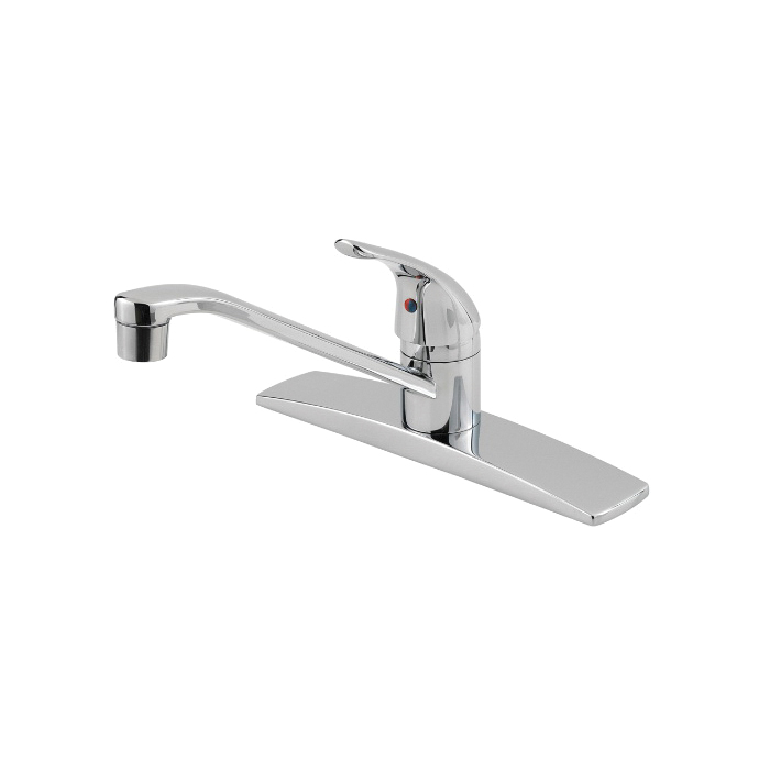 Pfister® Pfirst Series™ G134-1444 Professional Grade Kitchen Faucet, 1.8 gpm Flow Rate, Swivel Spout, Polished Chrome, 1 Handles