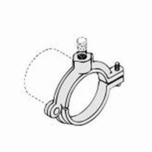 PHD 508R2400PL Extension Split Clamp, 4 in Pipe/Tube, 1/2 in Rod, 300 lb Load, Malleable Iron, Plain, Domestic