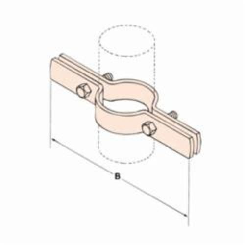 PHD 552 0400CP FIG 552 Copper Tubing Riser Clamp, 4 in Tube, 300 lb Load, Carbon Steel, Copper Color Epoxy, Domestic