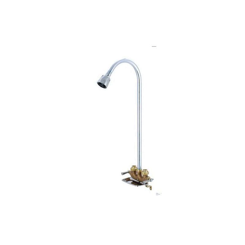 Central Brass 0477 Utility Shower, 2.5 gpm Shower, Rough Brass