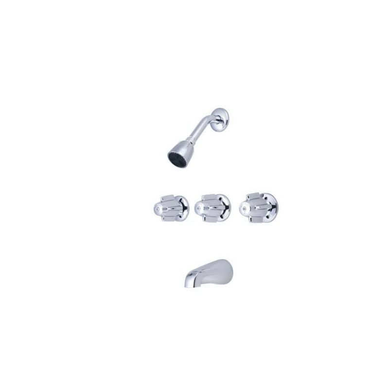 Central Brass 0971-Z Tub and Shower Set, 2.5 gpm Shower, Polished Chrome