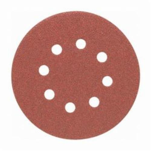Porter-Cable® 725001225 Flexible PSA Coated Abrasive Disc, 5 in Dia Disc, 120 Grit, Fine Grade, Aluminum Oxide Abrasive, Paper Backing