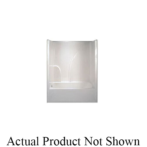 Hamilton Bathware G6032TSHSLWHT G 6032 TS HS 1-Piece Tub/Shower With Armorcore, 60 in L x 32 in W x 72-1/2 in H, White, Domestic