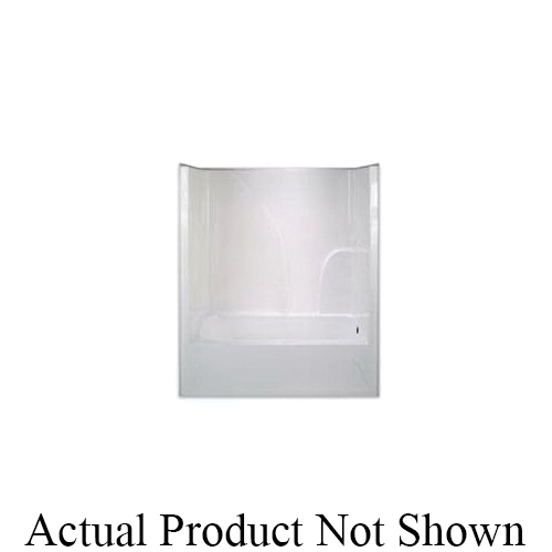 Hamilton Bathware G6034TSRWHT G 6034 TS 1-Piece Tub/Shower With Armorcore, 60 in L x 34-1/8 in W x 73 in H, White, Domestic