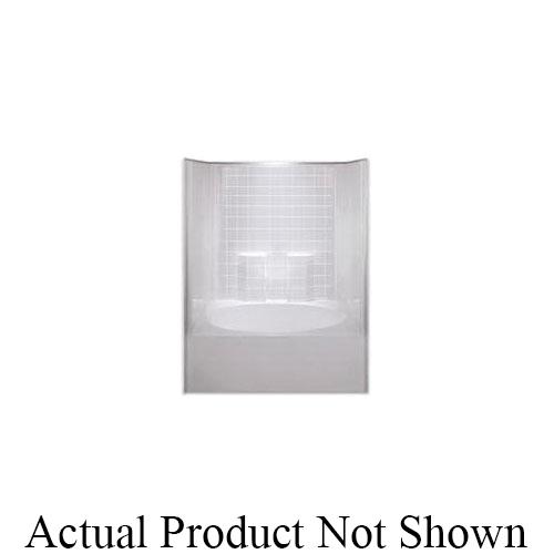 Hamilton Bathware G6042TSTILERWHT G 6042 TS Tile 1-Piece Garden Tub/Shower With Armorcore, 60 in L x 42 in W x 74-1/2 in H, White, Domestic