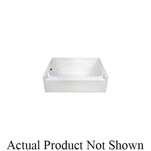 Hamilton Bathware G7224TOLWHT Luxury Acrylic G 7224 TO L Garden Bathtub With Armorcore and Integral Molded Skirt, Soaking, 72 in L x 41-3/4 in W, Left Drain, White, Domestic