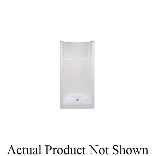 Hamilton Bathware G 3675 SH C WH Luxury Acrylic AcrylX™ 1-Piece Shower, 36 in L x 35-1/2 in W x 75-1/2 in H, Acrylic, White