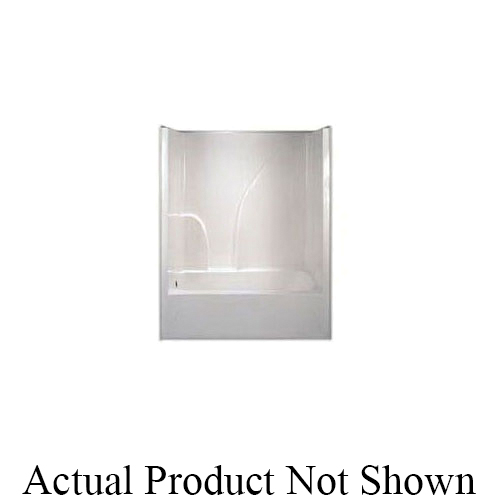 Hamilton Bathware G 6032 TS HS R WH Luxury Acrylic 1-Piece Tub Shower, AcrylX™, 60 in L x 32 in W x 72-1/2 in H, Acrylic, White