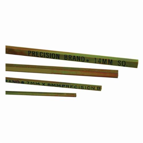 Precision Brand® 04005 Square Keystock, 1 ft L x 3 mm W x 3 mm H, Steel, Plain