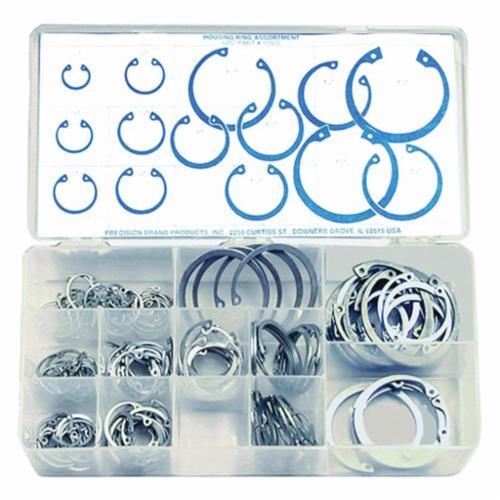 Precision Brand® 12915 Hitch Pin Clip Assortment, 150 Pieces, Steel, Plain