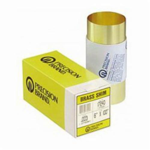 Precision Brand® 16A4 Shim Stock, 1008-1010 Full Hard Steel, 100 in Roll L x 6 in W x 0.004 in THK
