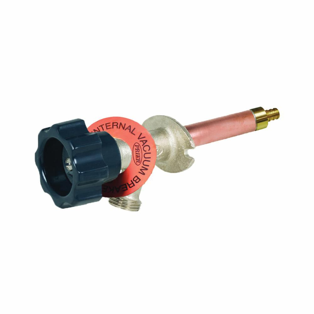 Prier® 420-08 Diamond 400 Freezeless Wall Hydrant, 1/2 in Nominal, Crimp PEX End Style, Domestic